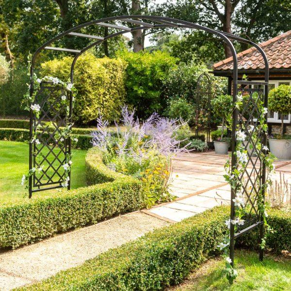 Ellipse Half Lattice Garden Arch