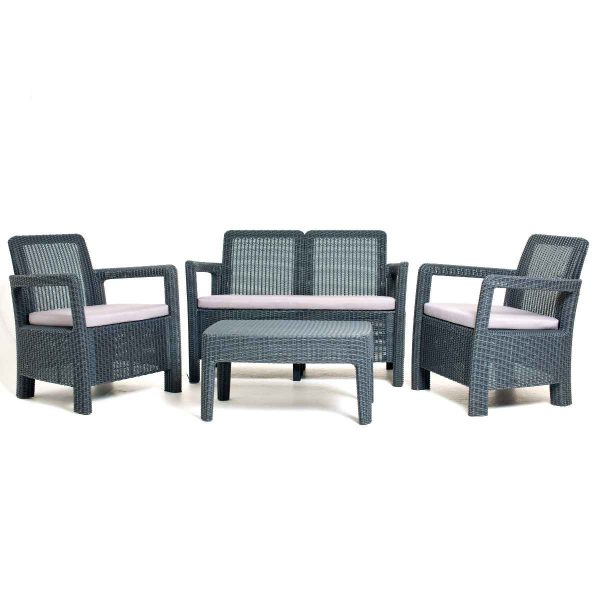 Keter Tarifa 4 Seat Outdoor Lounge Set - Grey