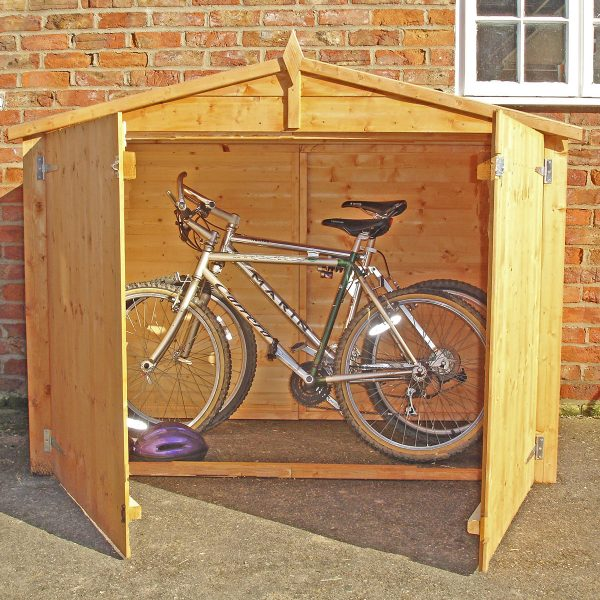 Shire Apex Shiplap Bike Store with Double Doors and No Floor