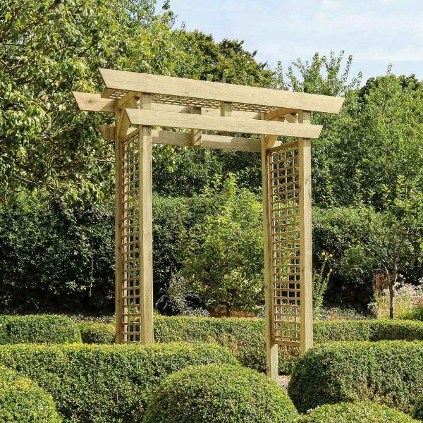Zest4Leisure Cherry Blossom Wooden Garden Arch