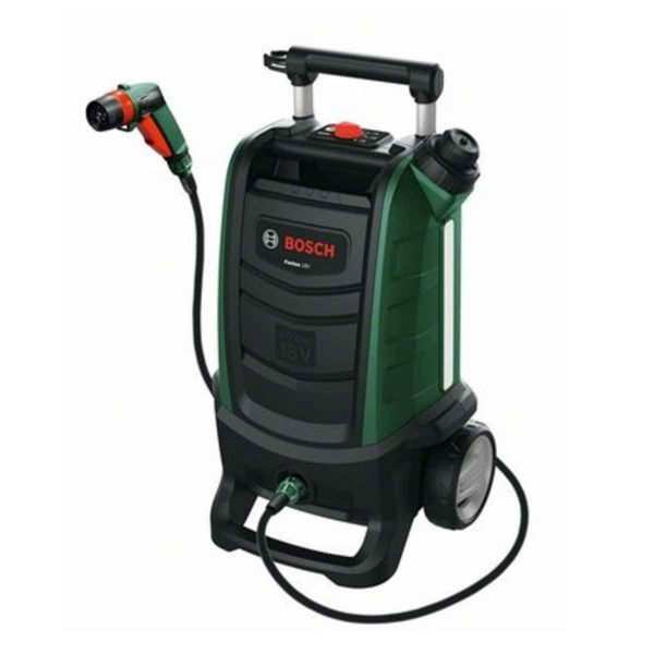 Bosch Fontus Gen II Cordless Outdoor Pressure Washer Cleaner with 2.5 Ah 18 V Battery & Charger