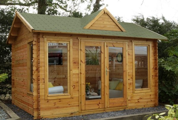 Forest Alderley Log Cabin - 13ft x 10ft