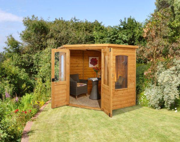Forest Cranborne Shiplap Corner Summerhouse - 7 x 7 ft