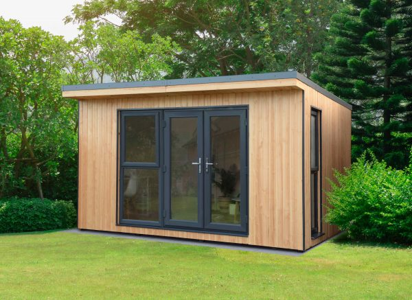 Forest Garden Xtend 4.0M + Premium Fully Insulated Garden Office (Installation Included)