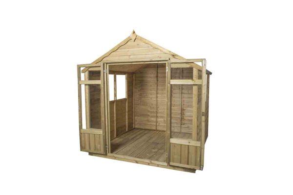Forest Overlap Oakley Summerhouse - 7 x 7 ft