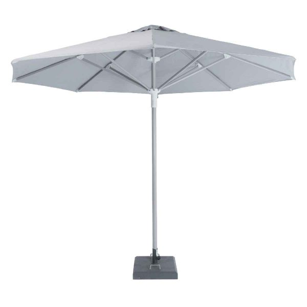 Garden Must Haves Telescopic 3.5m Parasol - Mouse Grey