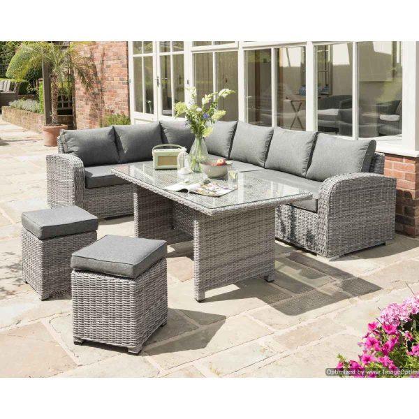 Handpicked Longbeach Corner Lounge Set - Grey