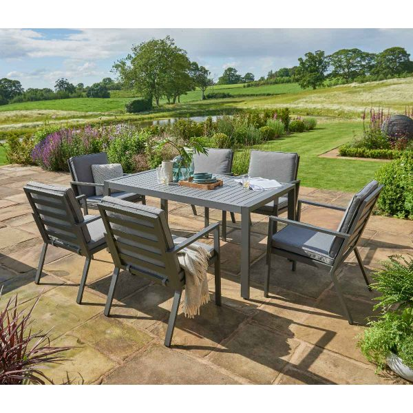 Handpicked Titchwell 6 Seat Dining Set - Grey