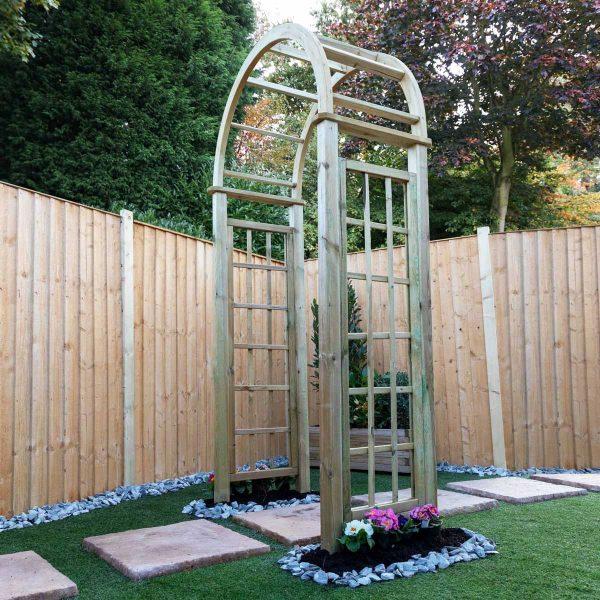 Mercia Curved Wooden Garden Arch
