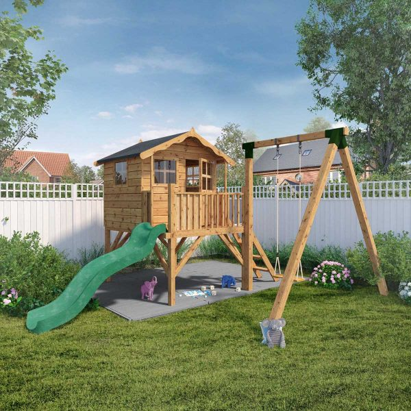 Mercia Poppy Playhouse with Tower and Activity Set