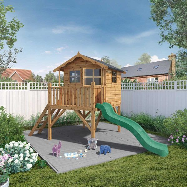 Mercia Poppy Playhouse with Tower and Slide