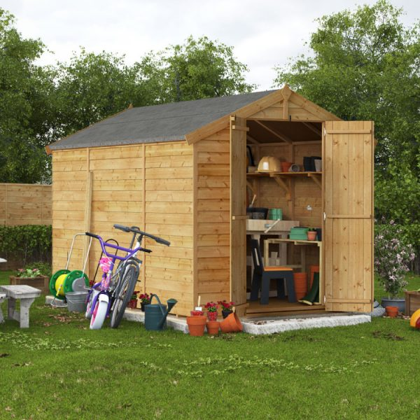 10x6 Keeper Overlap Apex Wooden Shed - PT Windowless BillyOh