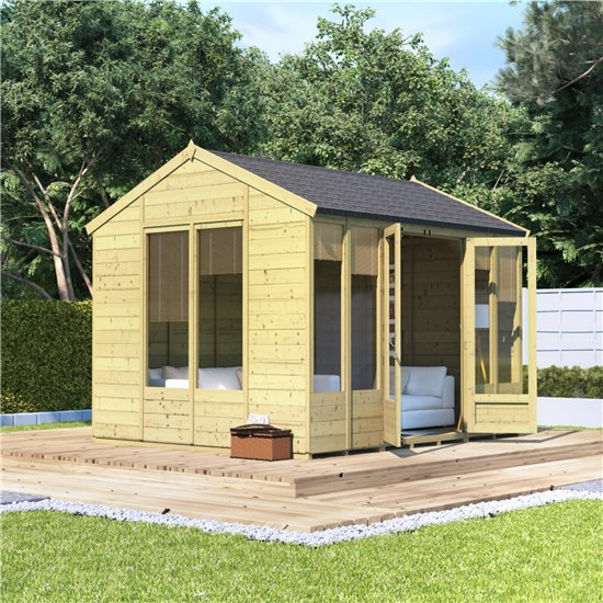 10x8 Petra Tongue and Groove Reverse Apex Summerhouse -PT BillyOh