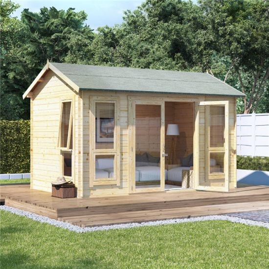 12 x 8 BillyOh Darcy Log Cabin Summerhouse - 19mm