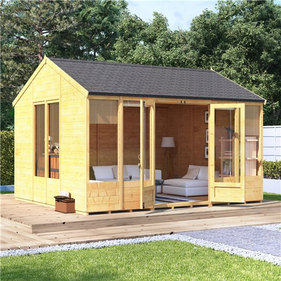 12x10 Petra Tongue and Groove Reverse Apex Summerhouse -BillyOh