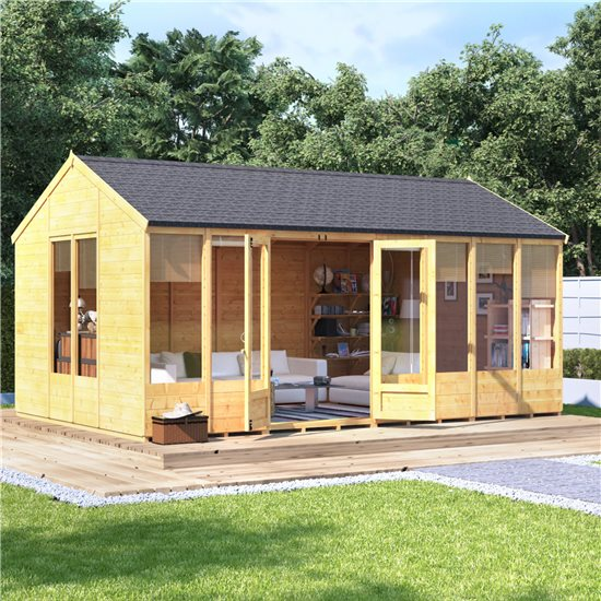 16x10 Petra Tongue and Groove Reverse Apex Summerhouse -BillyOh