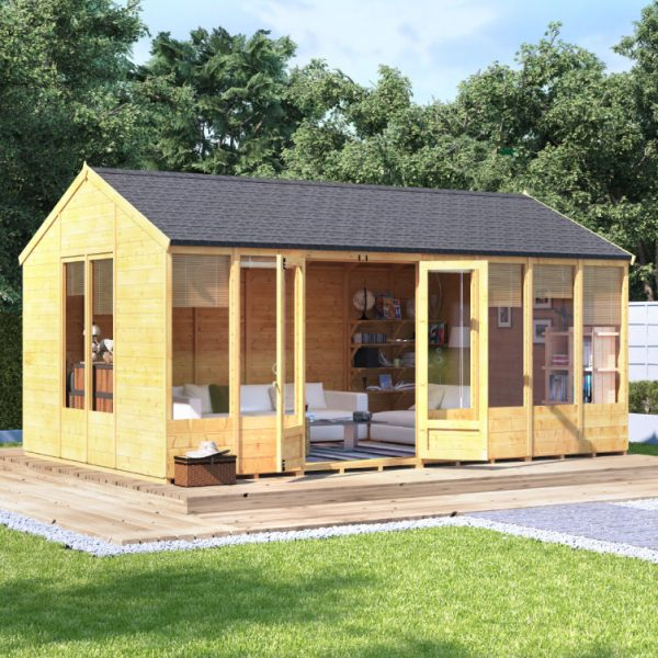 16x10 Petra Tongue and Groove Reverse Apex Summerhouse -PT BillyOh