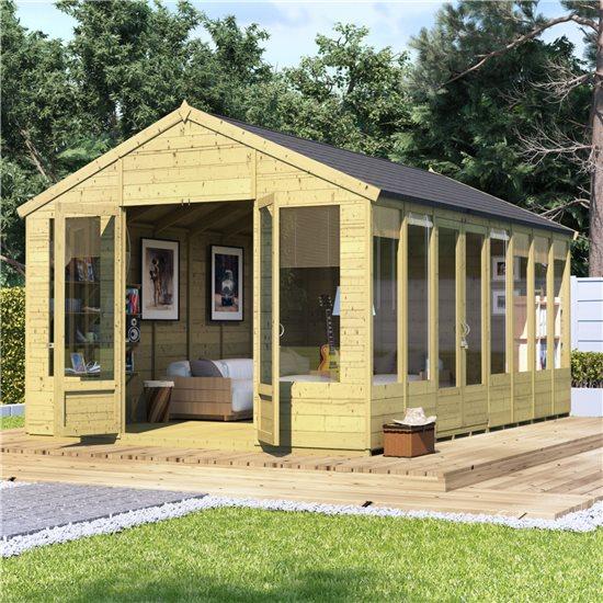 16x10 Tessa T&G Reverse Apex Summerhouse - PT BillyOh