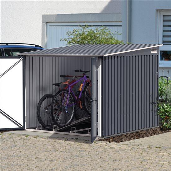 6x6 BillyOh Storemore Metal Bike Store - Dark Grey