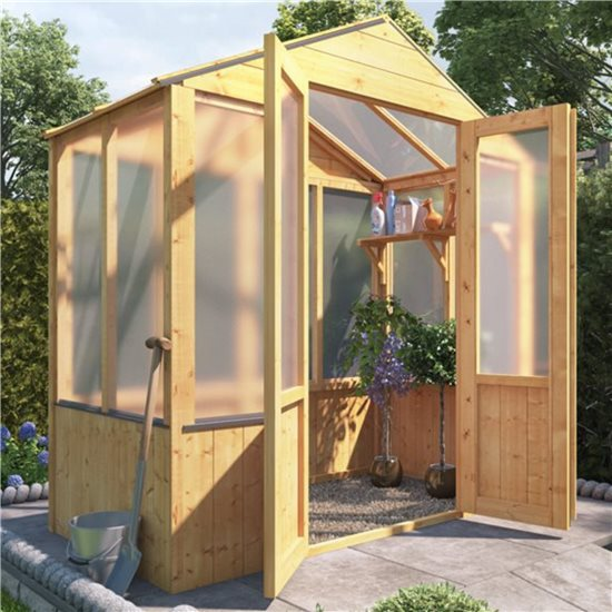 BillyOh 4000 Lincoln Wooden Polycarbonate Greenhouse - 3 x 6 Lincoln Wooden Greenhouse