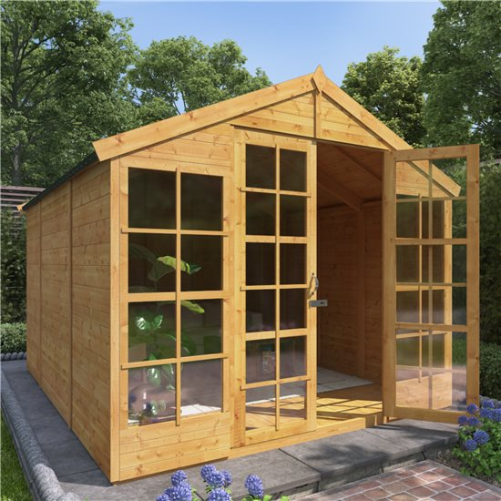 BillyOh Harper Tongue and Groove Apex Summerhouse - 10x8 T&G Apex Summerhouse