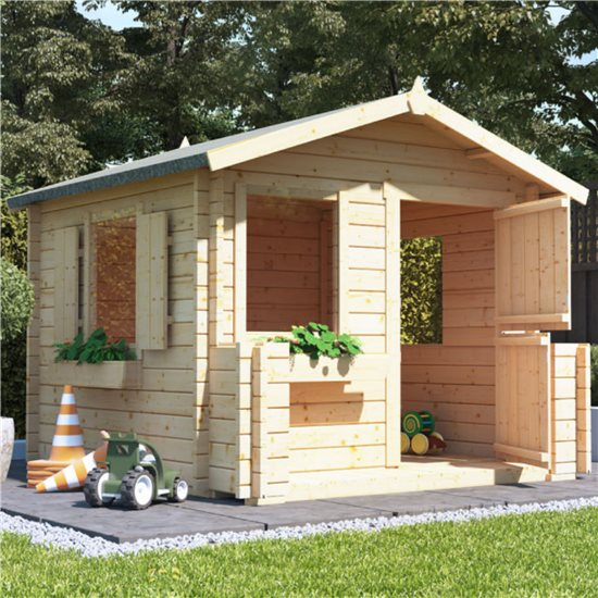 BillyOh Junior Log Cabin Playhouse - 28mm Junior Log Cabin W2.0m x D2.0m