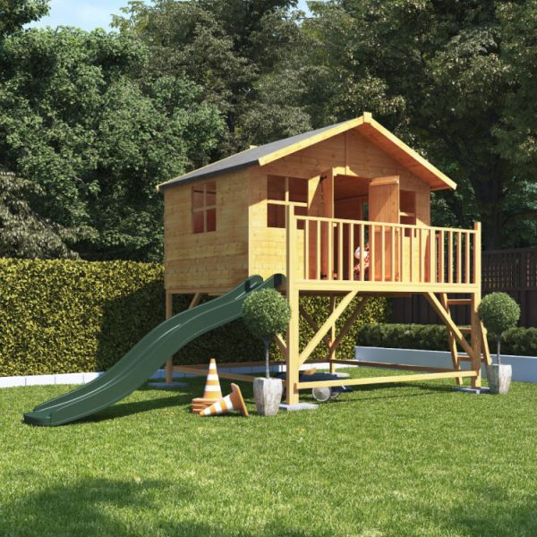 BillyOh Lollipop Max Wooden Playhouse With Slide