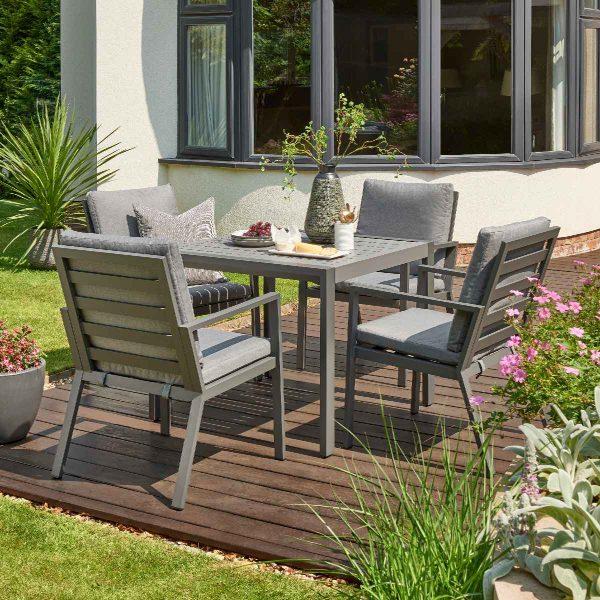 Handpicked Titchwell 4 Seat Dining Set - Grey