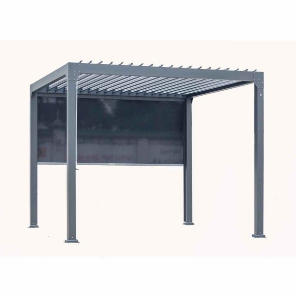 Katie Blake Charlotte 3 x 4m Aluminium Gazebo with Slatted Pergola - Grey