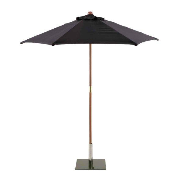 Sturdi Round 2.5m Wood Parasol - Black