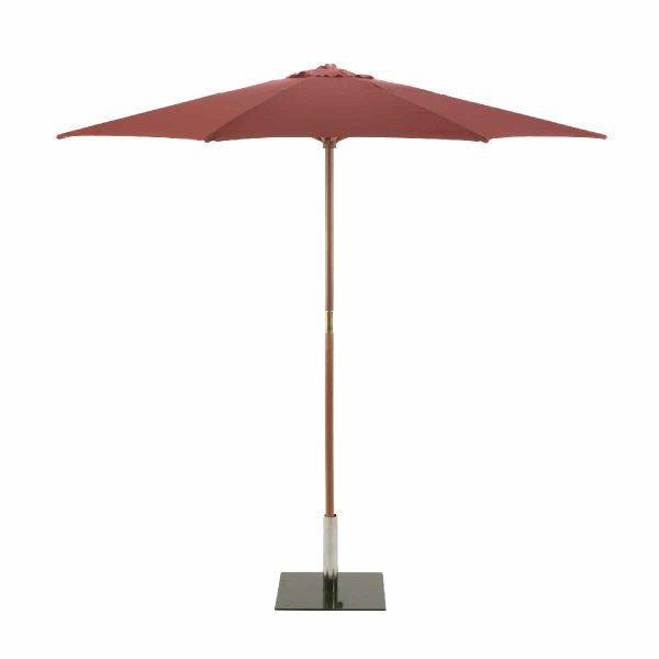 Sturdi Round 2.5m Wood Parasol - Terracotta