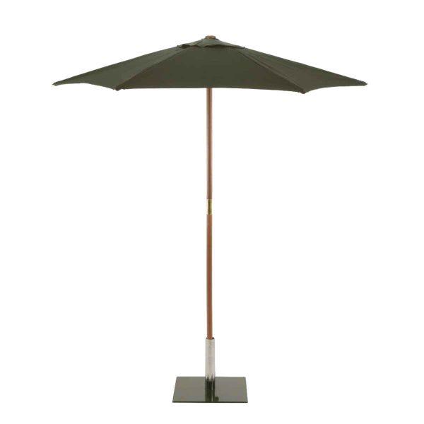 Sturdi Round 2m Wood Parasol - Green