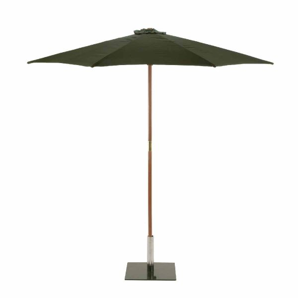 Sturdi Round 3m Wood Parasol - Green