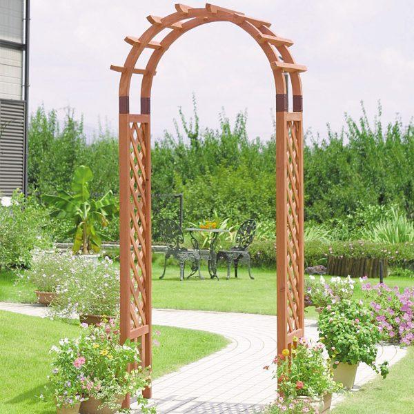 VegTrug Wooden Garden Arch Natural