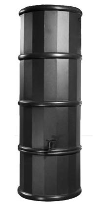 110L Slimline Polybutt Water Butt - Black