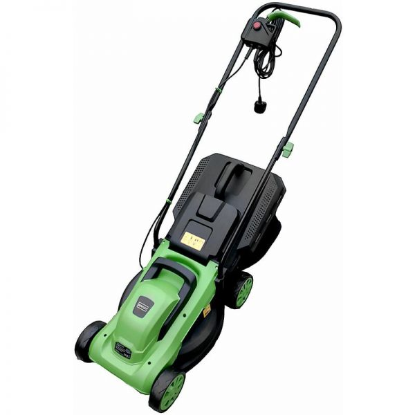1200W 30L Electric Wheeled Rotary Lawnmower 3 Grass Cut Settings - Green - Charles Bentley