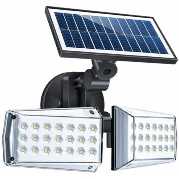 2 head LED safety light motion sensor exterior adjustable 20W, IP65, exterior floodlight Waterproof solar street light for a garage, garden