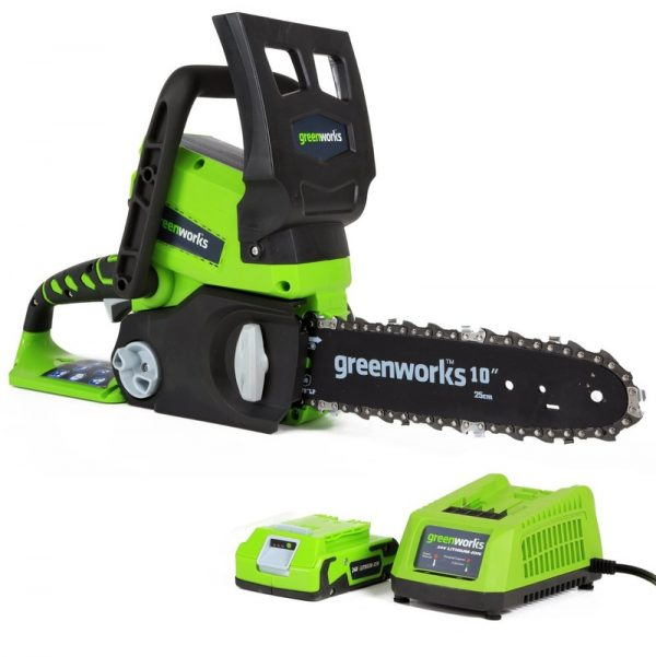 24V Chainsaw c/w 2Ah Battery & Charger - Greenworks