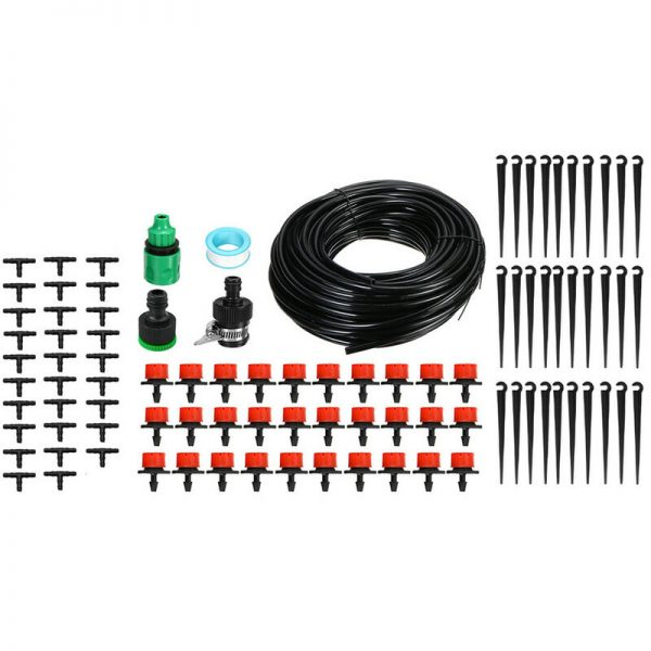 25M DIY Garden Micro Drip Irrigation System Plant Automatic Watering Sprinkler Kit With Adjustable Drippers
