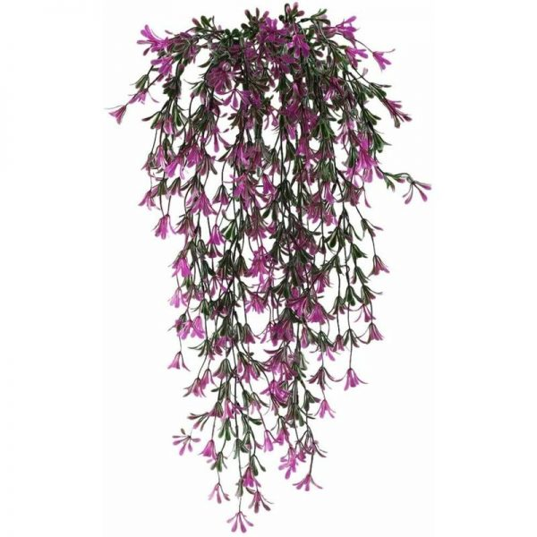 2pcs Hanging Artificial Plant Artificial Flowers Plants Garland Vine for Indoor Outdoor Hanging Planter Home Garden Balcony Office Balcony Fence