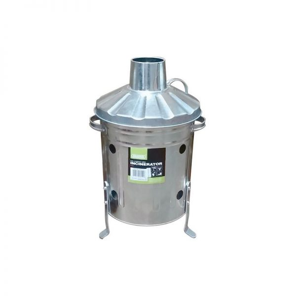 53250 Galvanised Mini Incinerator (15L) - Draper
