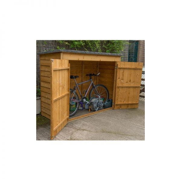 6'x2'4' (1.8x0.8m) Forest Dip Treated Overlap Bike Store