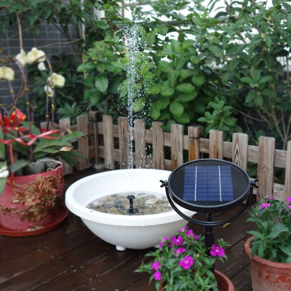 9V 2W Solar Panel Solar Powered Fountain Submersible Brushless Water Pump Kit for Bird Bath Pond Pull 190L/H 170cm Lift - Decdeal