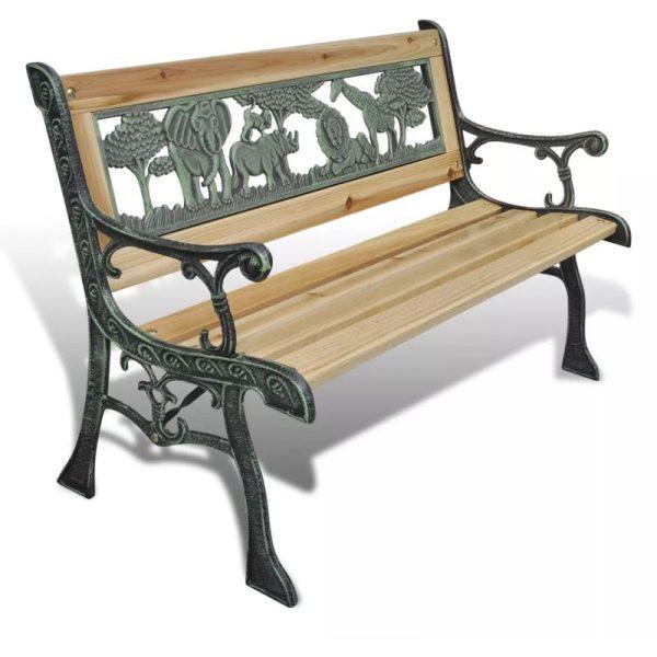 Asupermall - Children Garden Bench 84 cm Wood