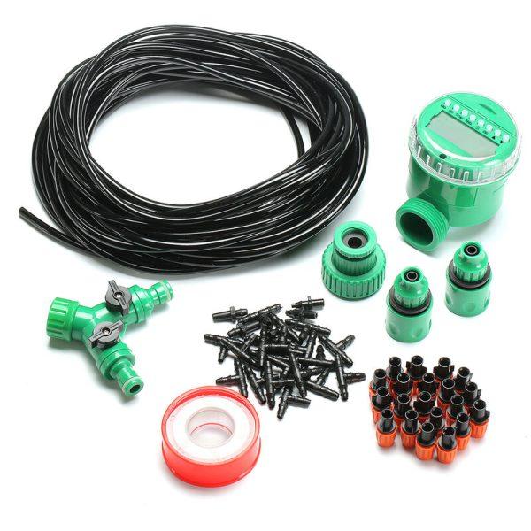 Augienb - 46Pcs Automatic Watering Sprinkler Kit DIY Garden Micro Drip Irrigation System Plant Flower