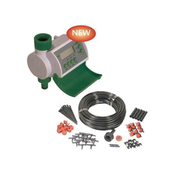 Automatic Digital Water Timer Hozelock Compatible & Micro Irrigation Kit - Winster