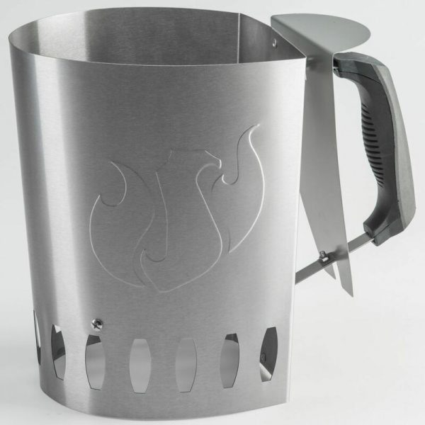 Barbecue Charcoal Chimney Starter Silver 15200 - Silver - Landmann