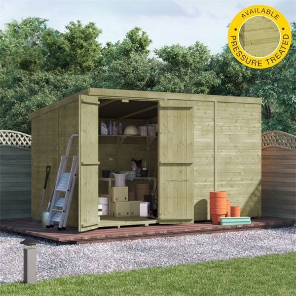 BillyOh Master Tongue and Groove Pent Shed - PT-10x6 T&G Pent Windowless