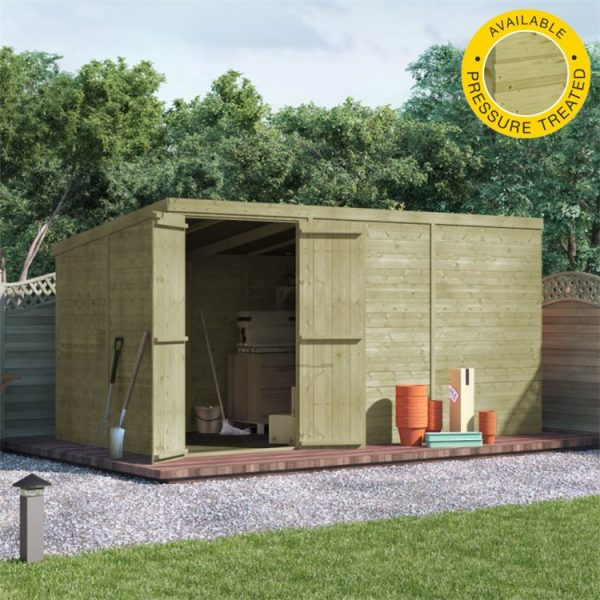 BillyOh Master Tongue and Groove Pent Shed - PT-12x6 T&G Pent Windowless