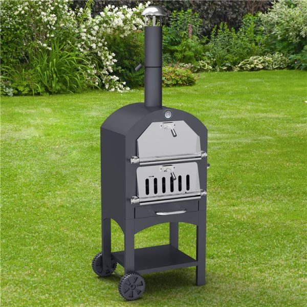 BillyOh Outdoor Pizza Oven, Chimney Smoker & Charcoal Barbecue - 3-in-1 Pizza oven, BBQ and smoker